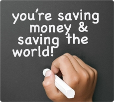 Youre saving mony and saving the world