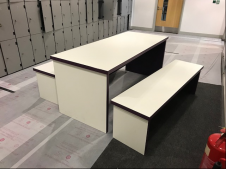 Table and 2 Benches Set - 23 sets available