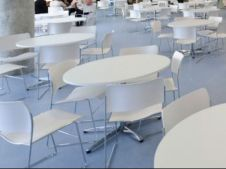 Round Dining Hall tables and chairs
