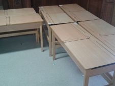 flip up classroom desks double